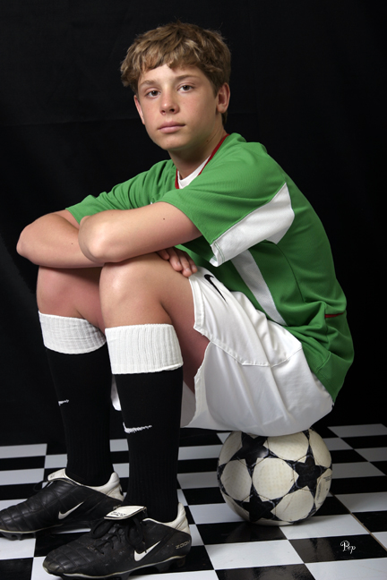 March 31, 2005 - Portrait of a soccer player