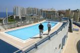 Hotel roof pool