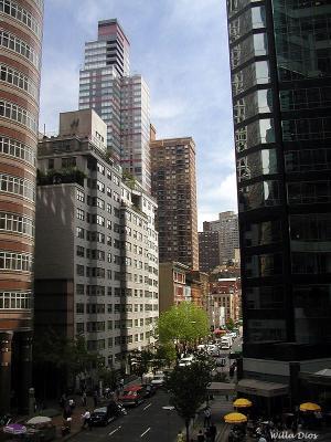 East 53rd Street NYC Taken Thru An Office Window
