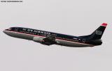 US Airways B737-401 N418US aviation stock photo