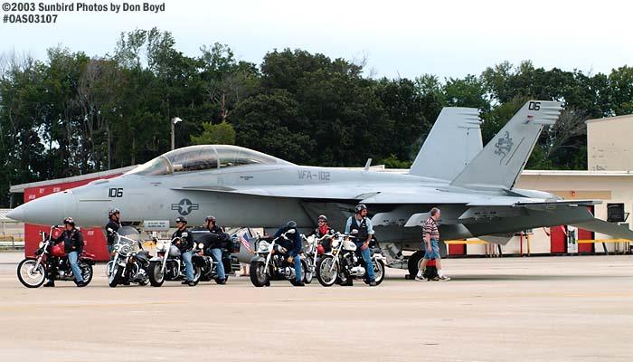 USN F/A-18 Hornet #106 VFA-102 military aviation air show stock photo #6982