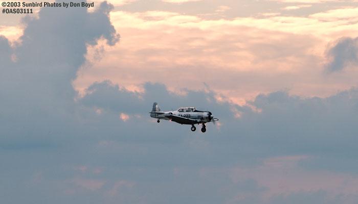 Warbird at sunset aviation stock photo #6986