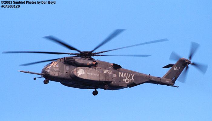 USN Sikorsky MH-53E Sea Dragon #553 HM-14 military aviation air show stock photo #7010