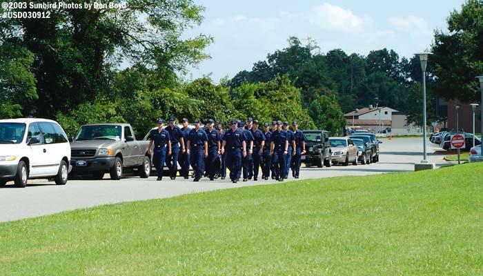 2003 - USCG Training Center Yorktown - Coasties marching - Coast Guard stock photo #6700