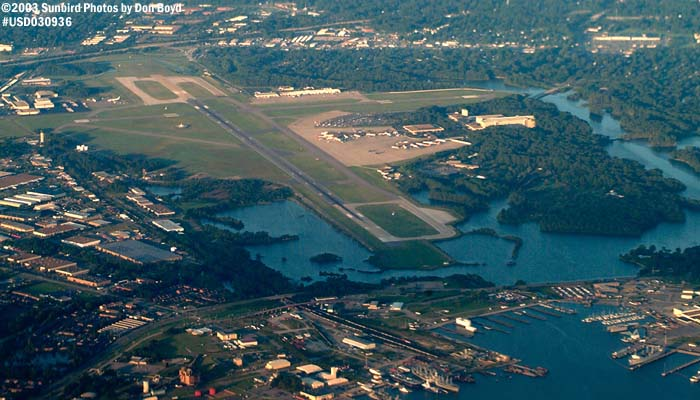 Norfolk International Airport (ORF) airport aerial stock photo #7048