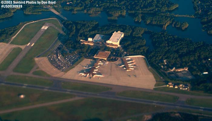 Norfolk International Airport (ORF) airport aerial stock photo #7054