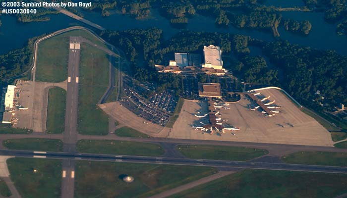 Norfolk International Airport (ORF) airport aerial stock photo #7057