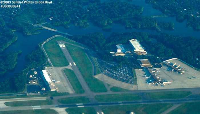 Norfolk International Airport (ORF) airport aerial stock photo #7058