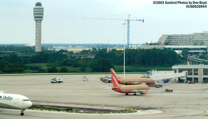 2003 - Orlando Intl Airport (MCO) airport aerial stock photo #7067