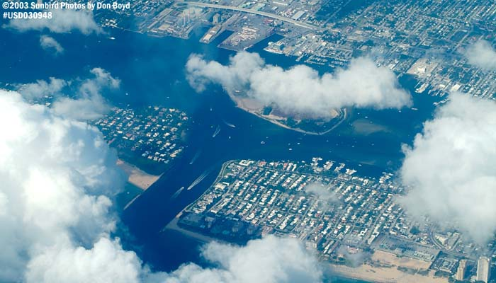 Lake Worth Inlet and Peanut Island, Florida aerial stock photo #7074C