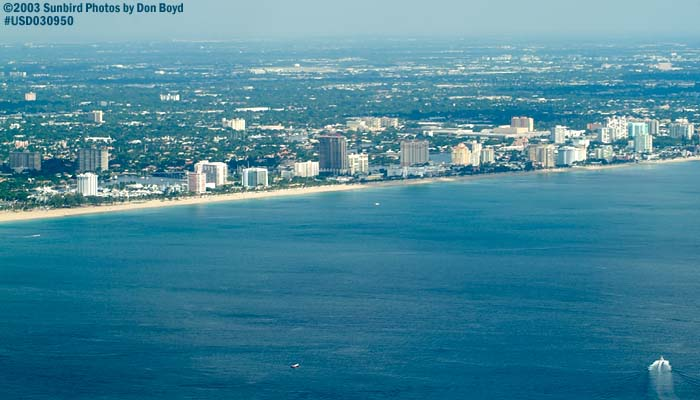 2003 - Ft. Lauderdale Beach landscape aerial stock photo #7082