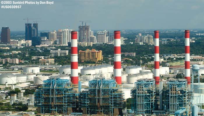 2003 - Florida Power & Light Ft. Lauderdale Power Plant landscape stock photo #7094