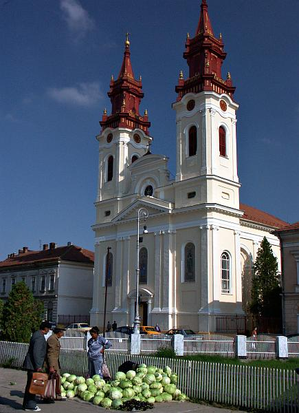 Arad - Orthodox Cathedral and market