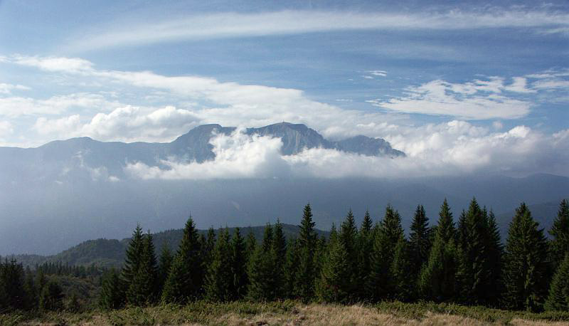 Bucegi Mountains, from across the Prahova Valley