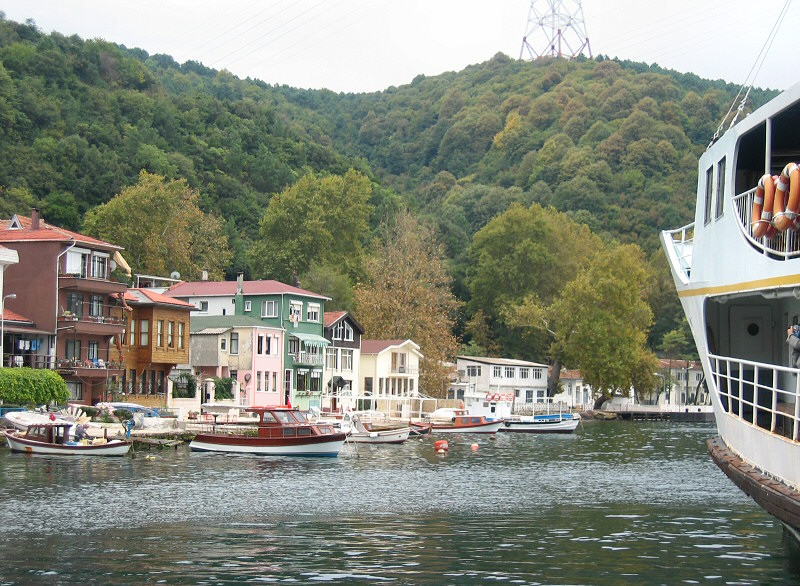 Anadolu Kavagi is a small fishing village,<br>w/ restaurants for ferry visitors