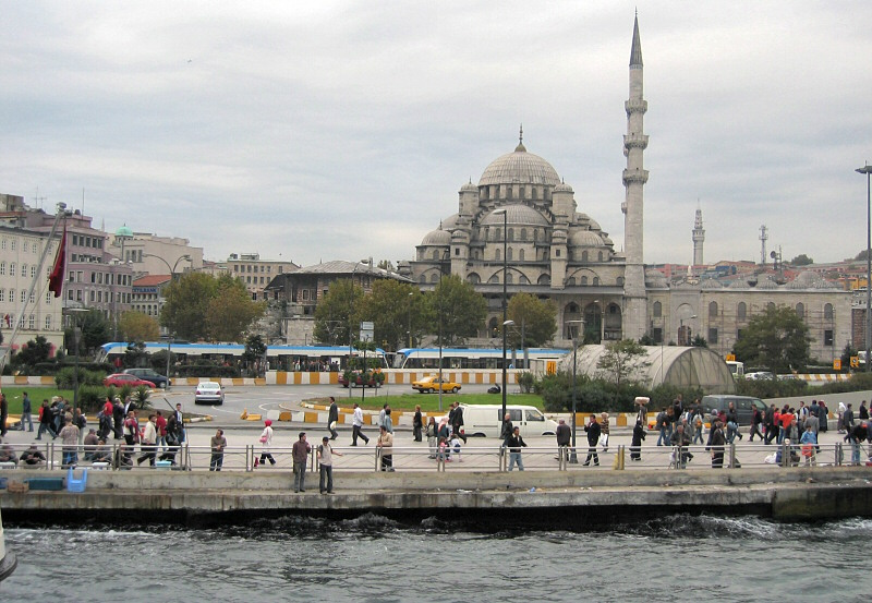 Busy Eminönü district , from the ship
