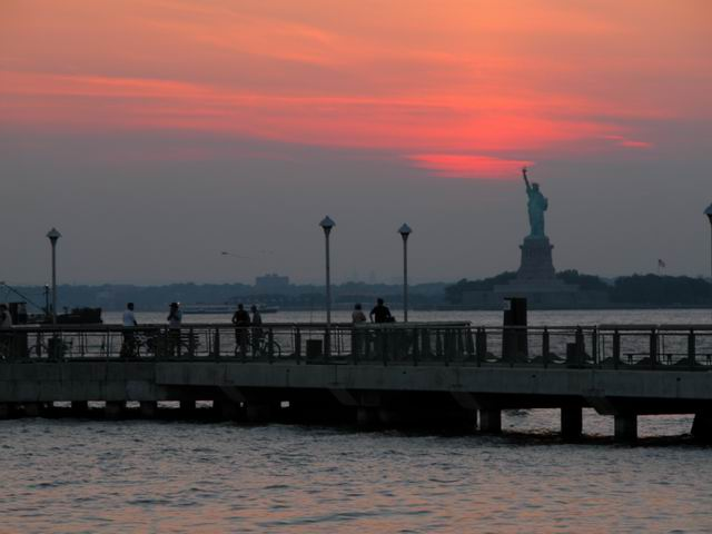 Valentino Pier Redhook  view of NY harbor