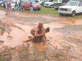 Talladega mud wrestling