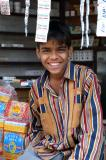 Boy with a roadside stand, Gwalior, India