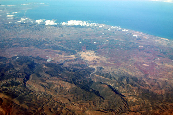 Eastern Morocco, looking towards the Spanish enclave of Melilla