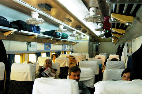 EC - Executive Chair Class - on the Shatabdi Express