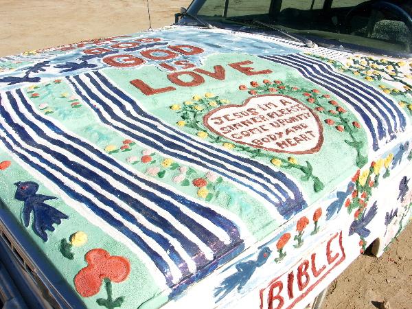 Artwork On One Of Leonards Vehicles