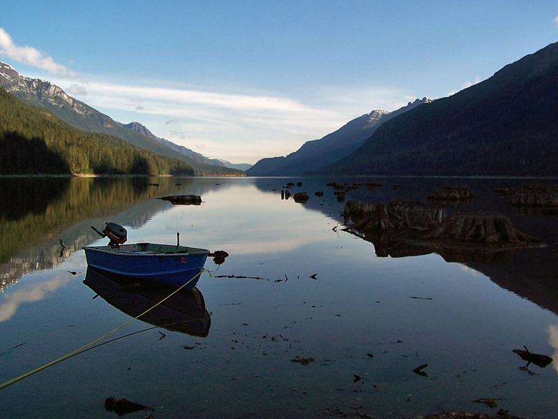 Buttle Lake Fishing Boat - Strathcona Park