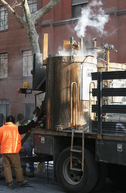 Road works, Brooklyn Heights