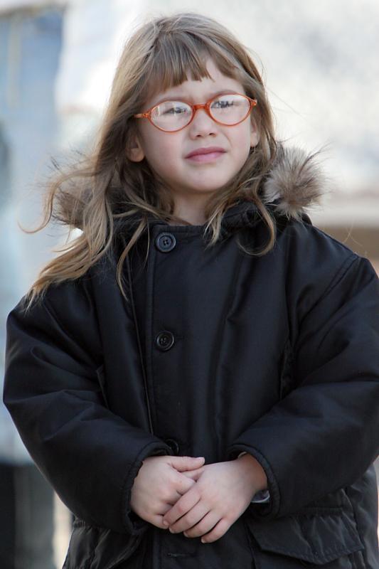 Girl in Battery Park