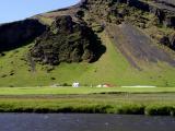 View near Skogafoss falls