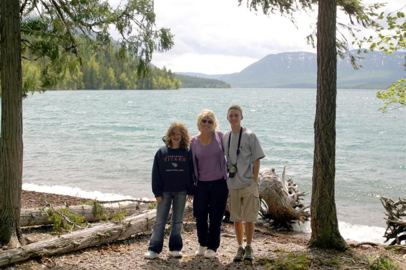 The Gang at Lake McDonald
