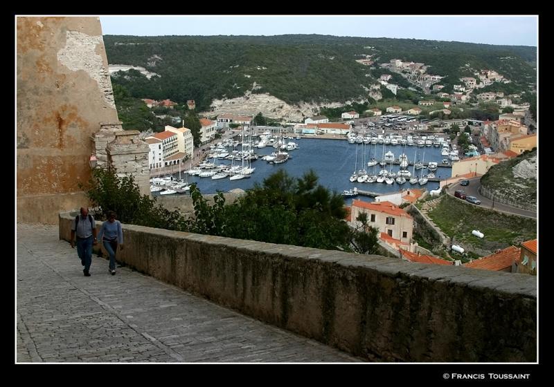 Steep climb to reach the old town