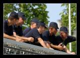 Tour de France : Best vantage point for the firemen...