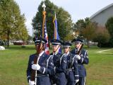 Honor Guard from the Citadel at Plaque dedication ceremony