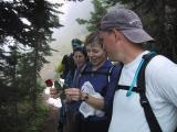Marlis planned to place a rose at Corral Pass for Tom...