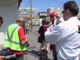 bahnhof und öffentliche straße: öbb-security will die bürgerwehr vertreiben