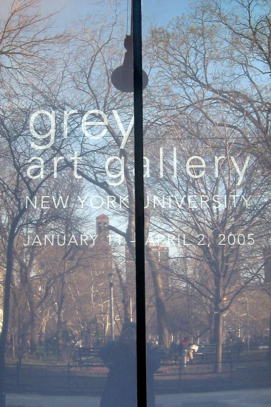 Washington Square Park Reflected in NYUs Grey Art Gallery Window