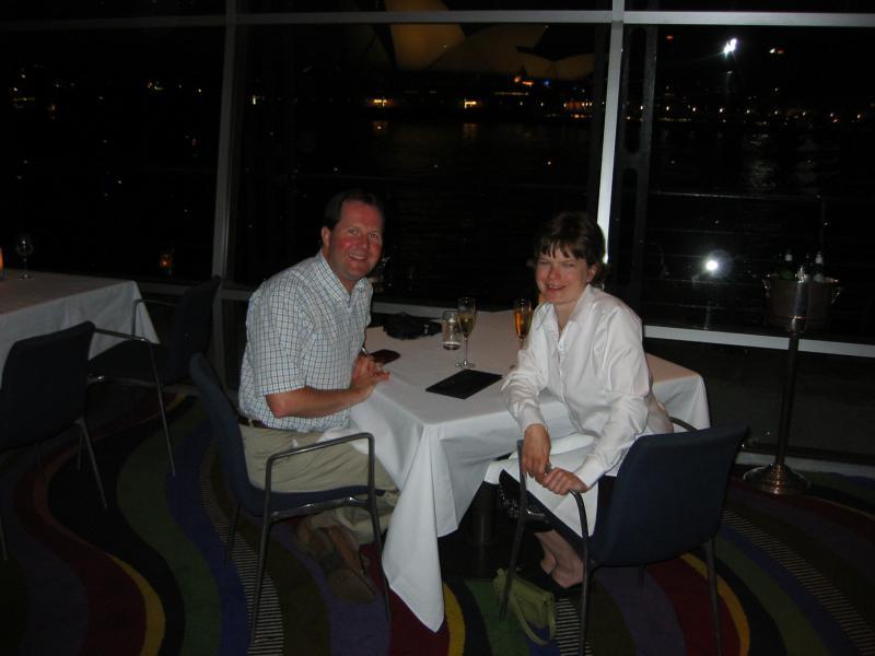 Cherrie & I at Quay restaurant.