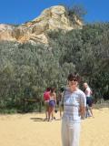 Cherrie at the Pinnacles.