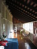Interior of Old Queenslander home, all wood construction.