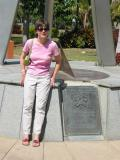 Cherrie at the Tropic of Capricorn, Rockhampton, Queensland. Hurray, we're officially in the tropics.