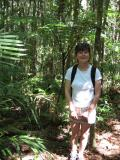 Cherrie and a tree fern.