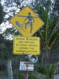 Sign on Four Mile Beach, Port Douglas.