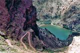 The last part of the South Kaibab trail is steep as it drops to the Colorado River