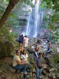 Students at the falls, Las Pozas