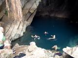 Swimming in the Cave near Tamul