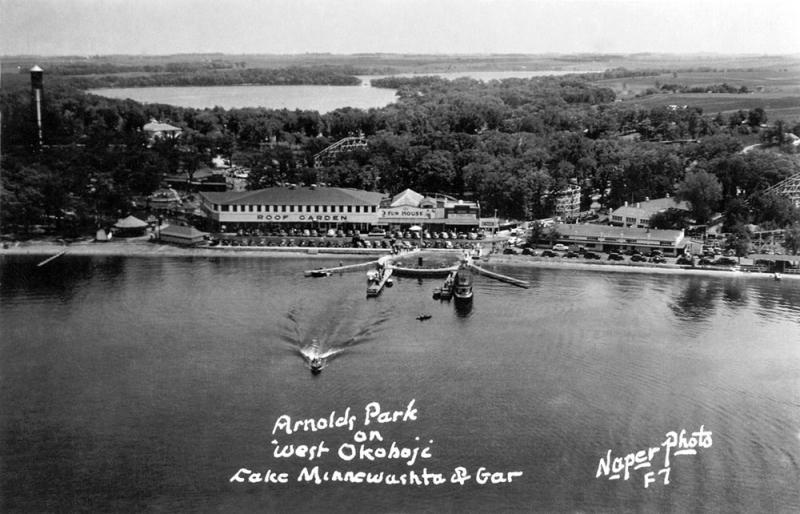 Arnolds Park West Okoboji Minnewashta and Gar 1945