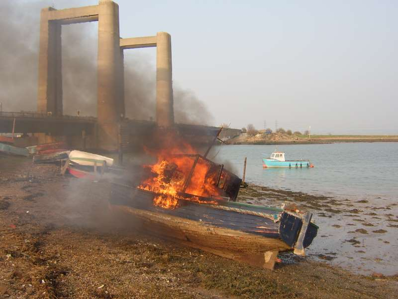 Boat on fire 2