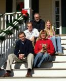 Christmas stair shot