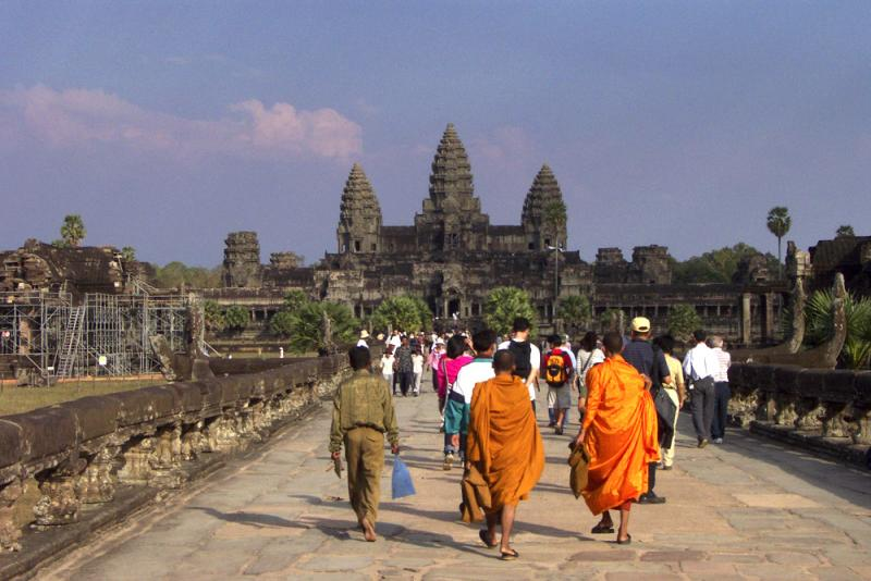 Road to Angkor Wat, Cambodia, 2000